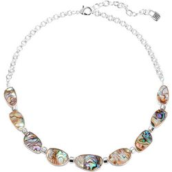 Chaps Abalone Shell Collar Necklace