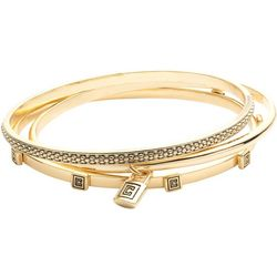 Chaps Gold Tone Bangle Bracelet Set