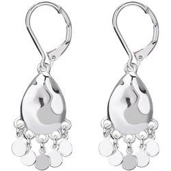 Chaps Silver Tone Shakey Drop Earrings