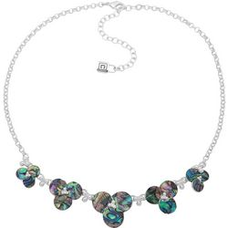 Chaps Abalone Shell Flower Necklace