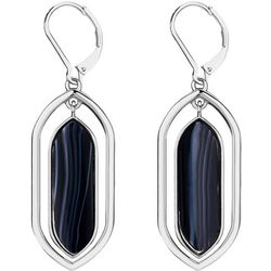 Chaps Faux Onyx Orbital Drop Earrings