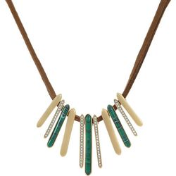 Chaps Multi Stick Frontal Corded Necklace