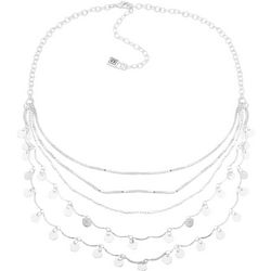 Chaps Shaky Discs Five Row Necklace
