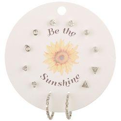 F2NYC 6-Pc Be The Sunshine Hoop & Stud Fashion Earring Set