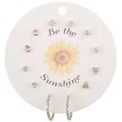 6-Pc Be The Sunshine Hoop & Stud Fashion Earring Set