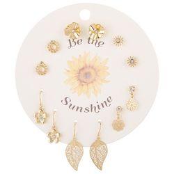 F2NYC 6-Pc Be The Sunshine  Fashion Earring Set
