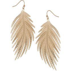Bay Studio Goldtone Palm Frond Dangle Earrings