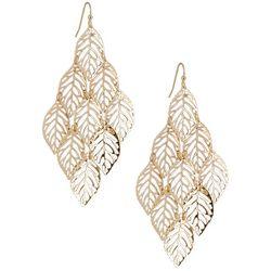 Bay Studio Goldtone Leaf Kite Shakey Dangle Earrings
