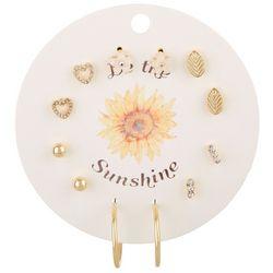 F2NYC 6-Pc Be The Sunshine Stud & Hoop Fashion Earring Set