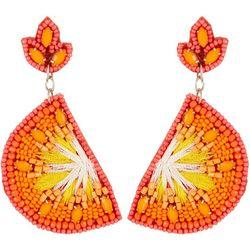 Bay Studio Beaded Orange Slice Earrings