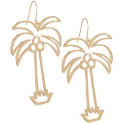 Bay Studio Goldtone Palm Tree Dangle Earrings