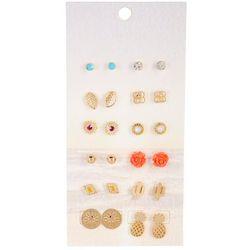 F2NYC 12-Pc Stud Fashion Earring Set