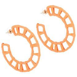 Bay Studio Raffia Wrapped C-Hoop Earrings