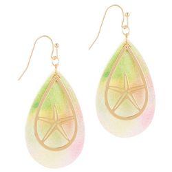 Bay Studio Starfish Layered Teardrop Tie-Dye Earrings