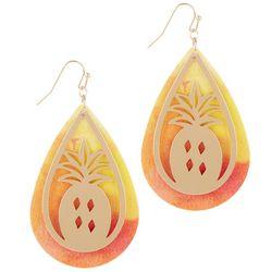 Bay Studio Pineapple Layered Teardrop Tie-Dye Earrings