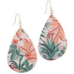 Bay Studio Tropical Floral Fabric Teardrop Earrings