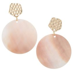 Bay Studio Gold Tone Shell Disc Drop Earrings