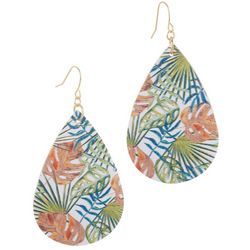 Bay Studio Tropical Printed Teardrop Earrings