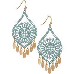 Bay Studio Gold Tone Filigree Threader Drop Earrings