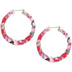 Bay Studio Fabric Wrapped Large Hoop Earrings