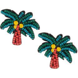Bay Studio Seedbead Palm Tree Post Back Earrings