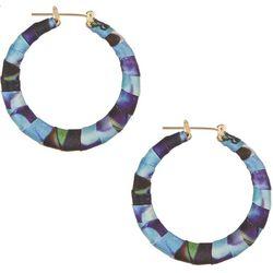 Bay Studio Blue Multi Wrapped Hoop Earrings