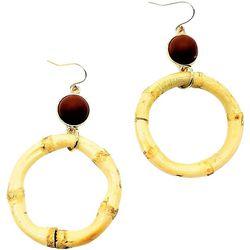 Bay Studio Natural Bamboo Ring Drop Earrings