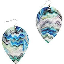Bay Studio Glitter Wave Fabric Drop Earrings