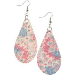 Bay Studio Pink Multi Glitter Fabric Earrings