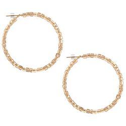Bay Studio Glass Square Beaded Hoop Earrings
