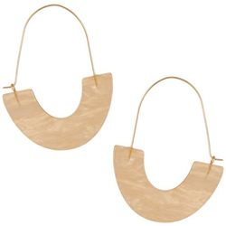 Urban Soul Gold Tone U-Shaped Earrings