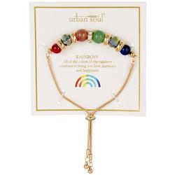 Urban Soul Rainbow Beaded Slider Bracelet