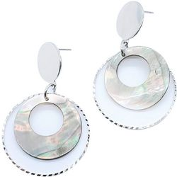 Bay Studio Shell Ring Drop Post Top Earrings