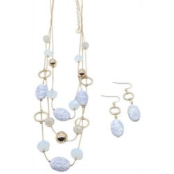Bay Studio Bead Illusion Necklace & Earring Set