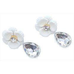 Bay Studio White Flower & Teardrop Earrings