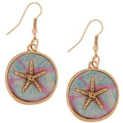 Bay Studio Starfish Disc Drop Earrings