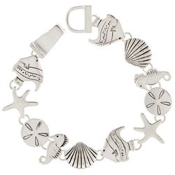Bay Studio Silver Tone Sea Life Link Bracelet