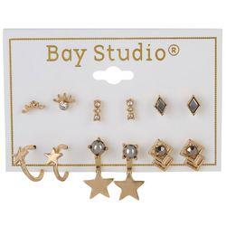 Bay Studio 6-pc Goldtone Starry Stud Earring Set