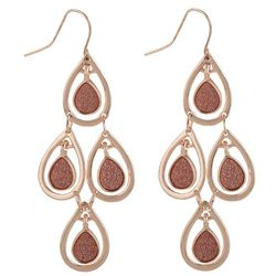 Bay Studio Rose Gold Glitter Chandelier Earrings
