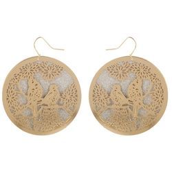 Bay Studio Laser Cut Bird Disc Drop Earring