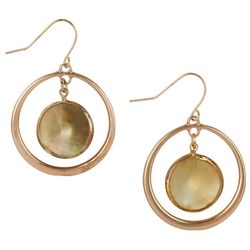 Bay Studio Ring With Floating Shell Accent Earrings