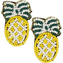 Bay Studio Seed Bead Pineapple Post Top Earrings