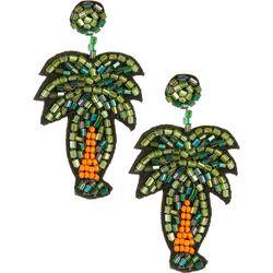 Bay Studio Seed Bead Palm Tree Post Top Earrings