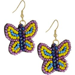 Bay Studio Multi Seed Bead Butterfly Earrings