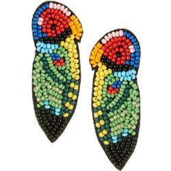 Bay Studio Multi Seed Bead Parrot Post Top Earrings