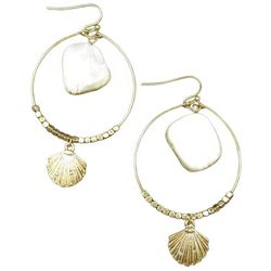 Bay Studio Beaded Shell Stone Earrings