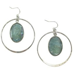 Bay Studio Orbital Mother Of Pearl Orbital Hoop Earrings