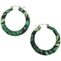 Palm Print Wrapped Hoop Earrings