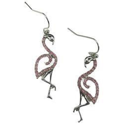 Flamingo Rhinestone Earrings