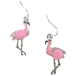 Bay Studio Flamingo Pom Pom Earrings